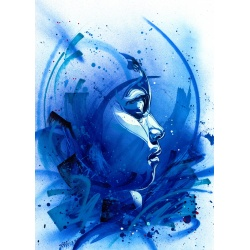Litho.Online C215 - 2 estampes Bring Back Our Girls - bleu et rouge