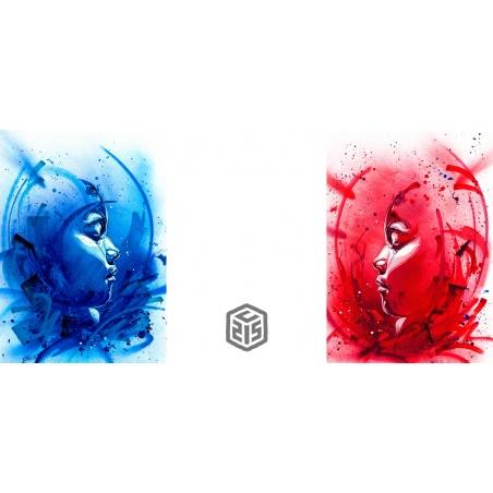 Litho.Online C215 - 2 estampes Bring Back Our Girls - bleu et rouge