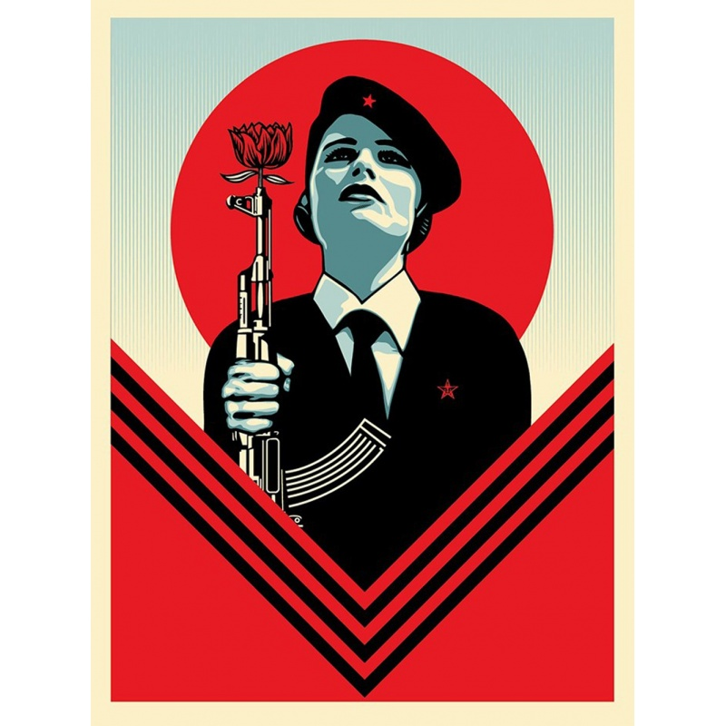 Litho.Online Shepard Fairey - Peace Guard2