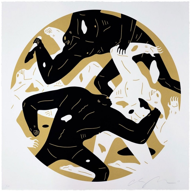 Litho.Online Cleon Peterson - Out of darkness II (White)