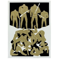 Litho.Online Cleon Peterson - The Genocide (White)