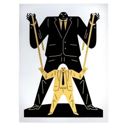 Litho.Online Cleon Peterson - Little man Big man Putin Trump (Gold)