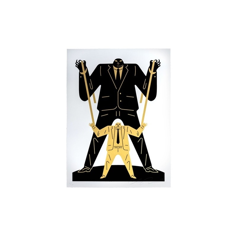 Litho.Online Cleon Peterson - Little man Big man Putin Trump (Gold)