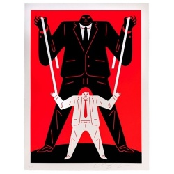Litho.Online Cleon Peterson - Little man Big man Putin (Red)