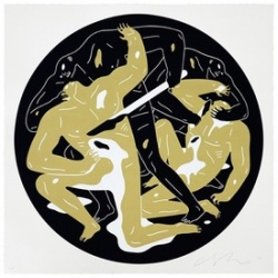 Litho.Online Cleon Peterson - This is darkness II (Gold)