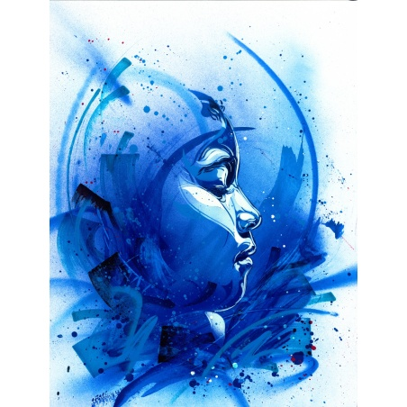 Litho.Online C215 - Bring Back Our Girls blue - ORIGINAL