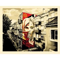 Litho.Online Shepard Fairey + Vhils - Universal Personhood, Lisbon