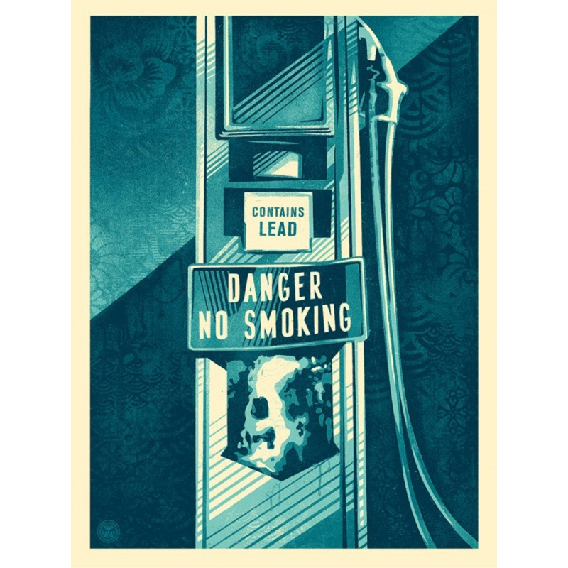 Shepard Fairey (Obey)– Danger no smoking - Sérigraphie signée numérotée 450ex- 61x46cm- 2016