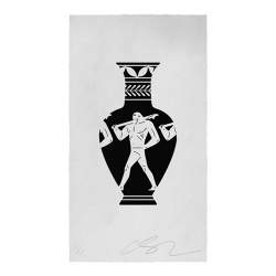 Litho.Online Cleon Peterson - End of Empire, Lekythos (white)