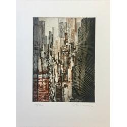 Gottfried Salzmann - NY Perspective - Lithographie et gravure signée et numérotée sur 19/20 exemplaires - 40x30cm - 2010