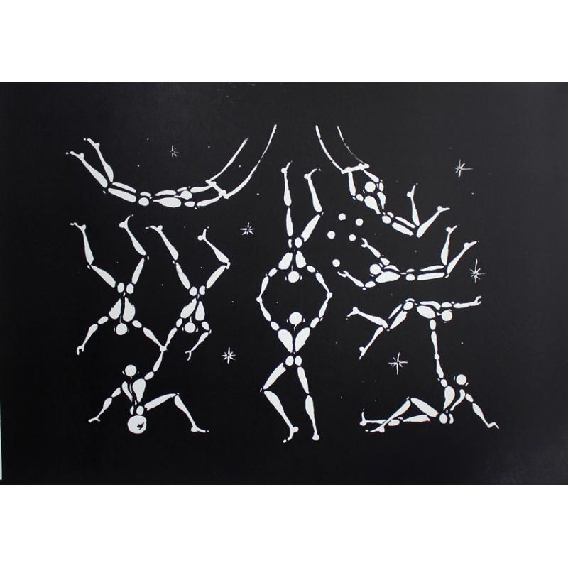 Jérôme Mesnager - Quel Cirque ! - Lithographie 92x65cm - 2015