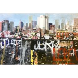 Gottfried Salzmann - Le rêve New York - Gravure sur photographie signée et numérotée 53/60 exemplaires - 59x89cm - 2014