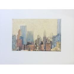 Gottfried Salzmann - New York Westside - Gravure aquatinte signée et numérotée 26/50 exemplaires - 50x66cm - 2010