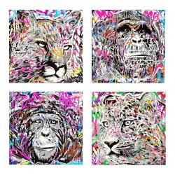 store.joelknafo-art.com Jo Di Bona - Set de 4 prints Popopop!