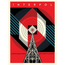 Litho.Online Shepard Fairey - Interpol NYC Calling