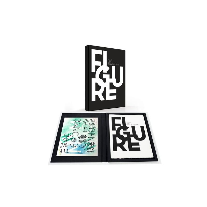 Coffret FIGURE - Suite 10 lithographies + uneTechnique mixte de J. Villeglé - 2014