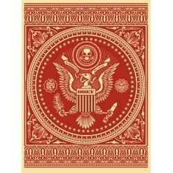 Shepard Fairey (Obey) – Presidential Seal - Sérigraphie signée numérotée sur 300ex - 61x46cm - 2007
