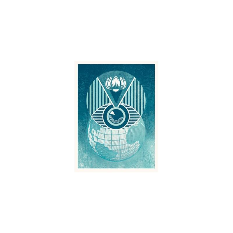 Litho.Online Shepard Fairey - Flint Eye Alert Globe