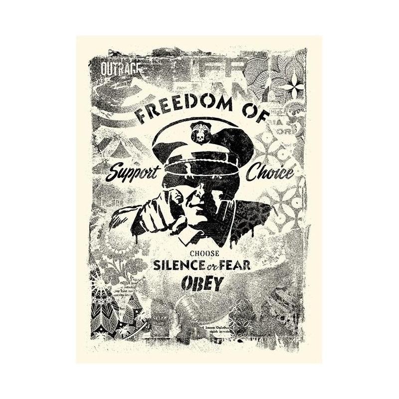 Litho.Online Shepard Fairey - Damaged Stencil Silence or Fear