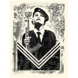 Litho.Online Shepard Fairey - Damaged Stencil Peace Guard 2