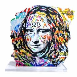 """Litho.Online Livre \\""""Sous le Street Art, Le Louvre\\"""" + Sculpture de Jo Di Bona"""