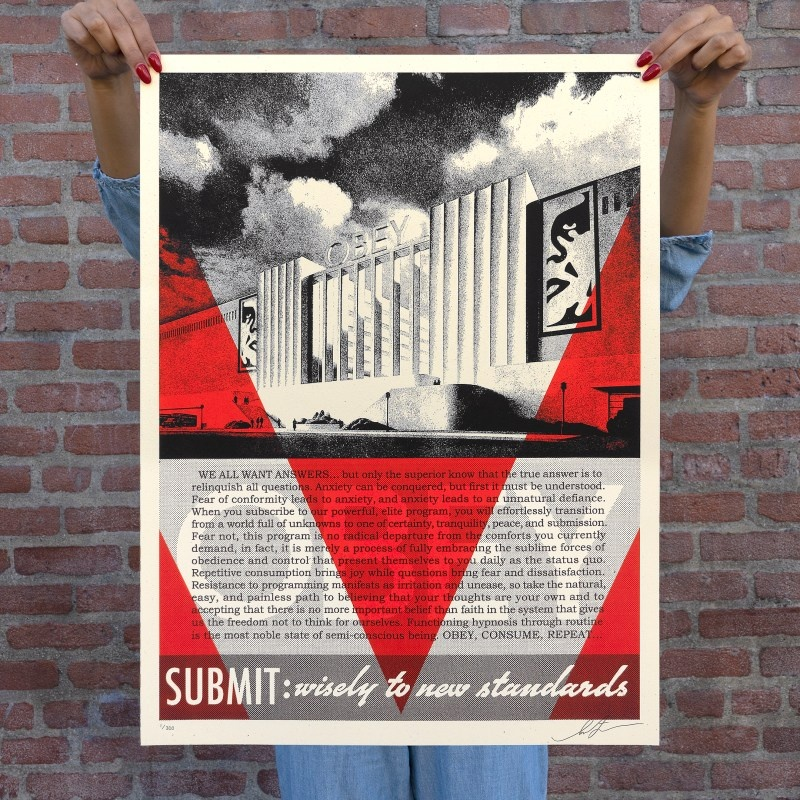 Litho.Online Shepard Fairey - Conformity Factory - RED