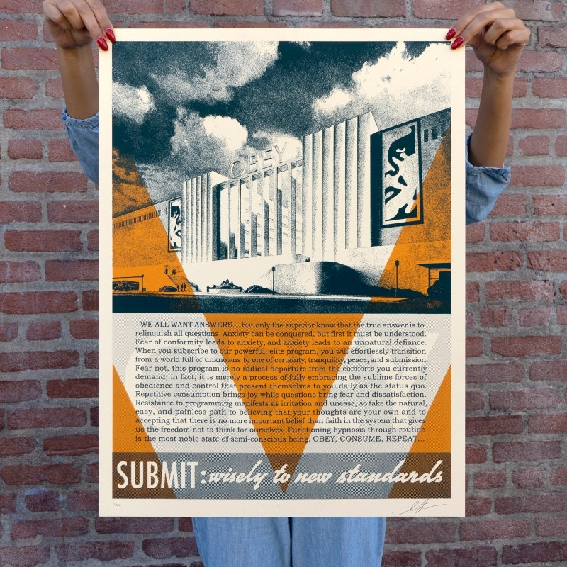 Litho.Online Shepard Fairey - Conformity Factory (Orange)