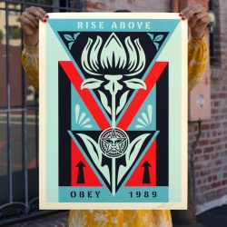 Litho.Online Shepard Fairey - Obey Deco Flower (Black)