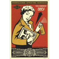 Litho.Online Shepard Fairey - OBEY STAY UP GIRL