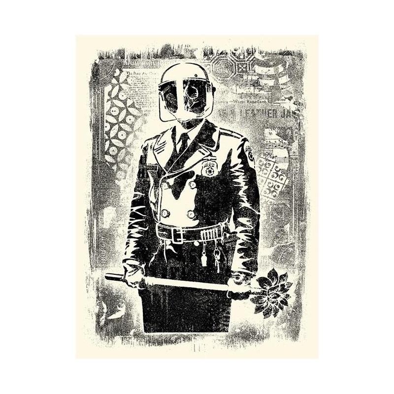 Shepard Fairey (Obey)– Damaged Stencil Florist- Signée & Numérotée 400ex - 61x46cm - 2017