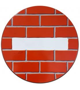 Litho.Online Clet - The Wall - Panneau de signalisation 40cm