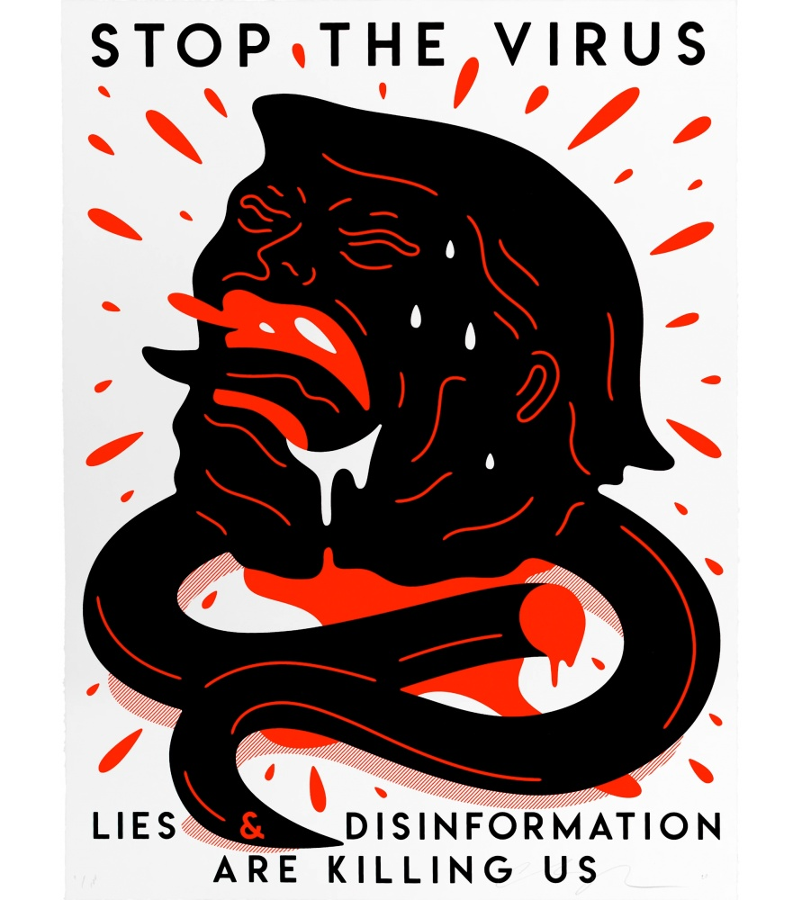 Litho.Online Cleon Peterson - Stop The Virus