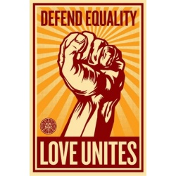 Shepard Fairey -Love Unites- sérigr autocollant signée num 200ex - 66