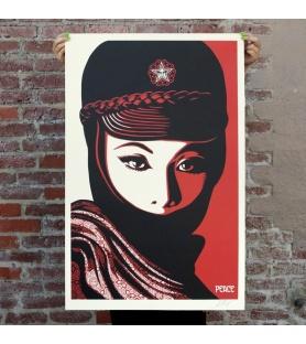 Obey (Shepard Fairey) - Mujer Fatal - Poster signé et daté - Format 91x61cm - 2017
