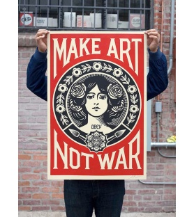 Obey (Shepard Fairey) - Make Art Not War - Poster signé - Format 91x61cm - 2017