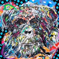 Jo di Bona - Space Monkey - Estampe signée et numérotée en 33ex - 50x50cm - 2018