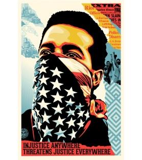 Litho.Online Shepard Fairey - American Rage signé et daté au crayon