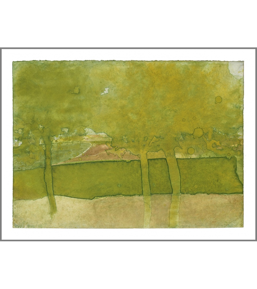 Litho.Online Gottfried Salzmann - Estampe Trois Arbres