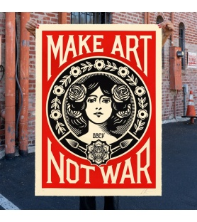 Litho.Online Shepard Fairey - Make Art Not War (grand format)