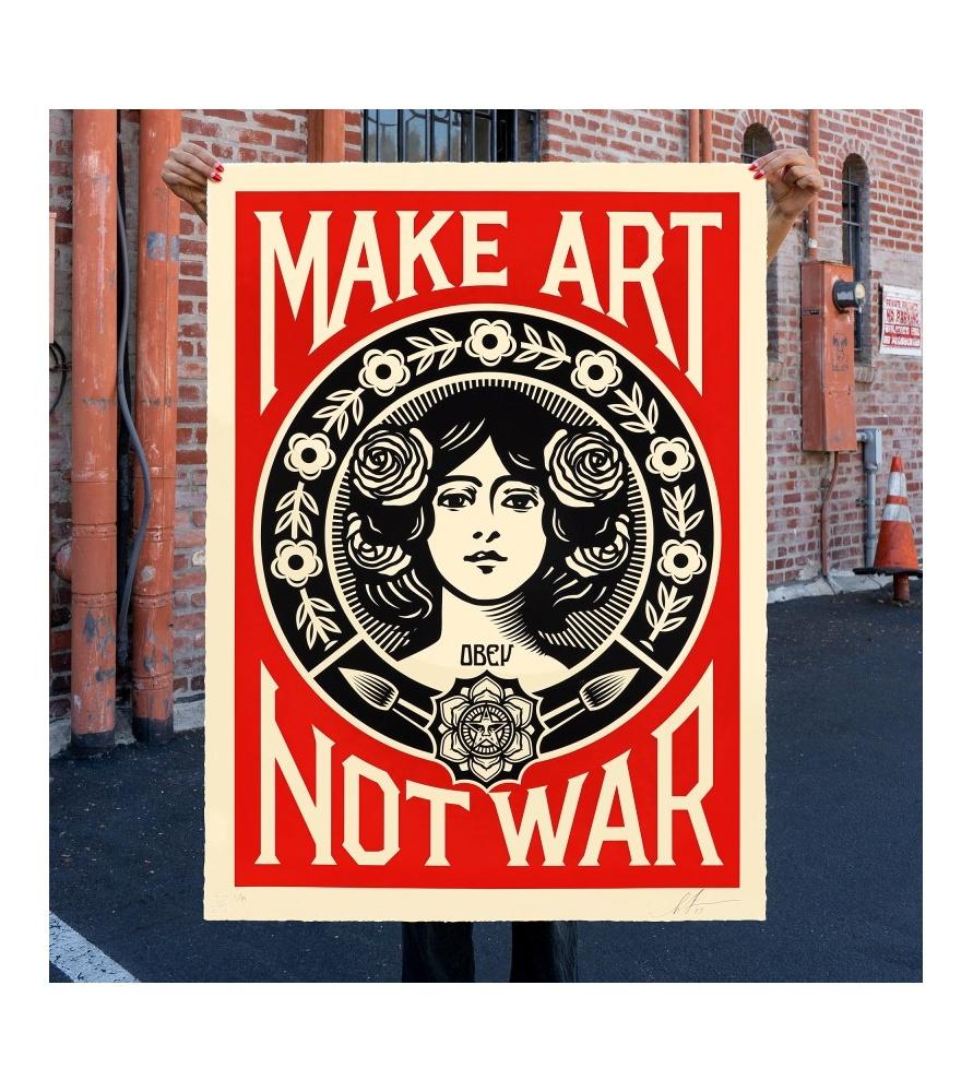 Litho.Online Shepard Fairey - Make Art Not War (grand format) - EPREUVE d'ARTISTE
