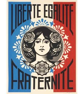 Litho.Online Shepard Fairey - Liberté, Egalité, Fraternité (édition numérotée)