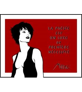 Litho.Online Miss Tic - La poésie est un luxe de première nécessité
