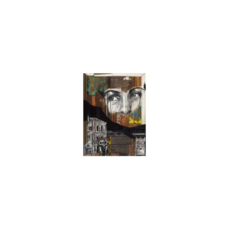 Evazésir - Ame déchue  - Estampe signée numérotée 20ex- Museum 350g- 40x30cm 2018