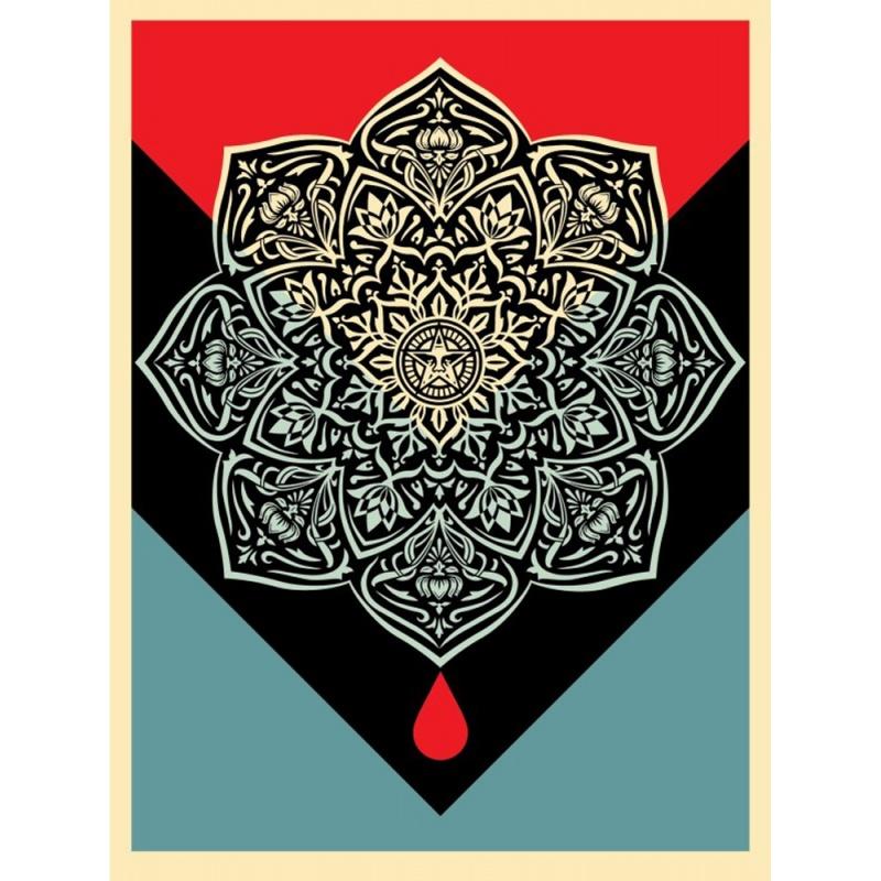 Shepard Fairey (Obey) – Blood and Oil- sérigraphie signée numérotée 400ex - 61x46cm - 2017
