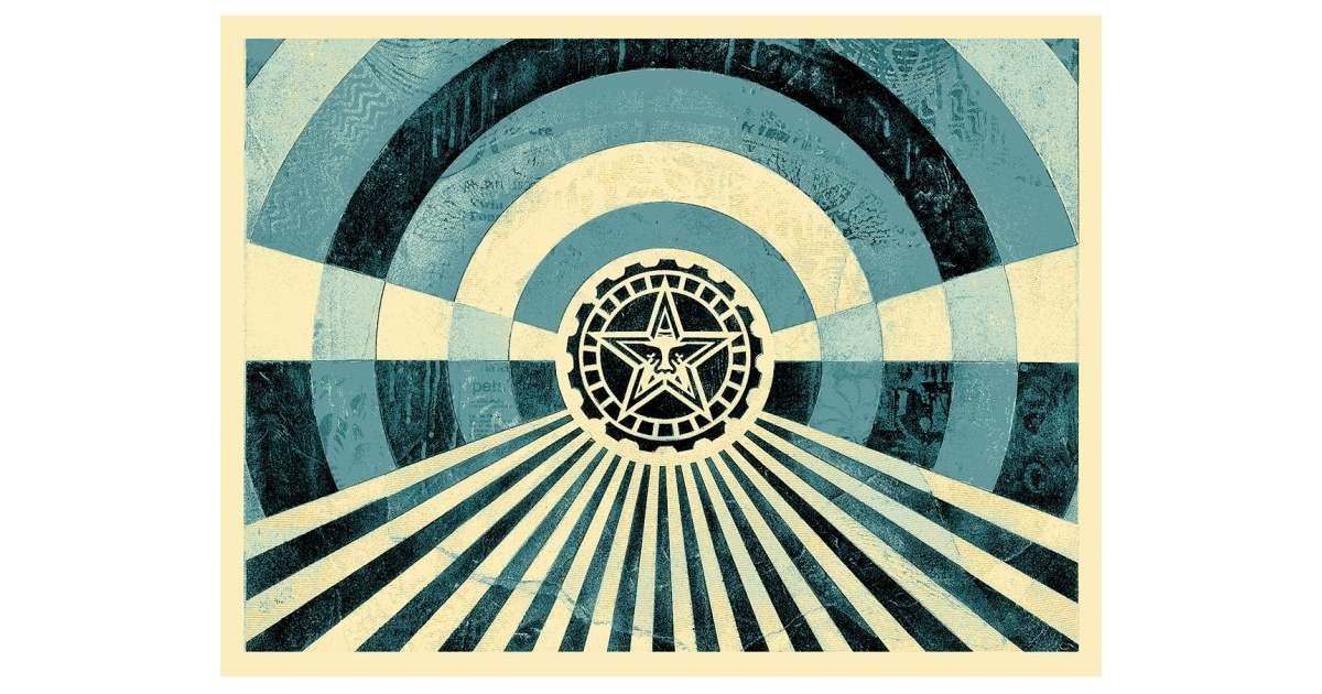 Litho.Online Shepard Fairey - Tunnel Vision Blue