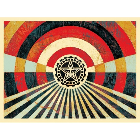 Litho.Online Shepard Fairey - Tunnel Vision Gold