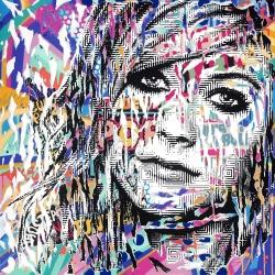 Jo di Bona- truth- Estampe signée et numérotée en 20ex - 30x30cm - 2017
