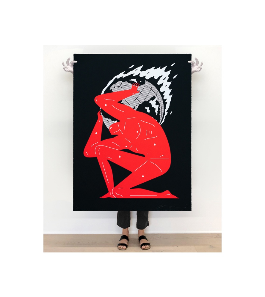 Litho.Online Cleon Peterson - World of fire - Black (large format)