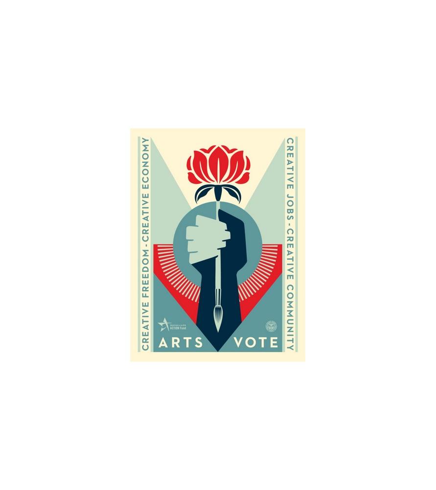 Litho.Online Shepard Fairey - Arts Vote