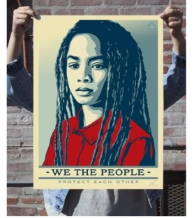 Litho.Online Shepard Fairey - We The People - Set de 3 prints signés et numérotés